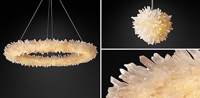 Geode Quartz Crystal Chandelier Collection RH - Quartz chandelier crystals