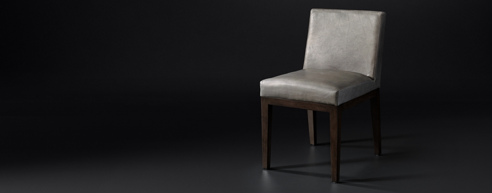 56ee048672 Morgan Side Chair Leather Collection   RH Modern