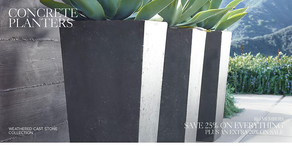 shop concrete planters
