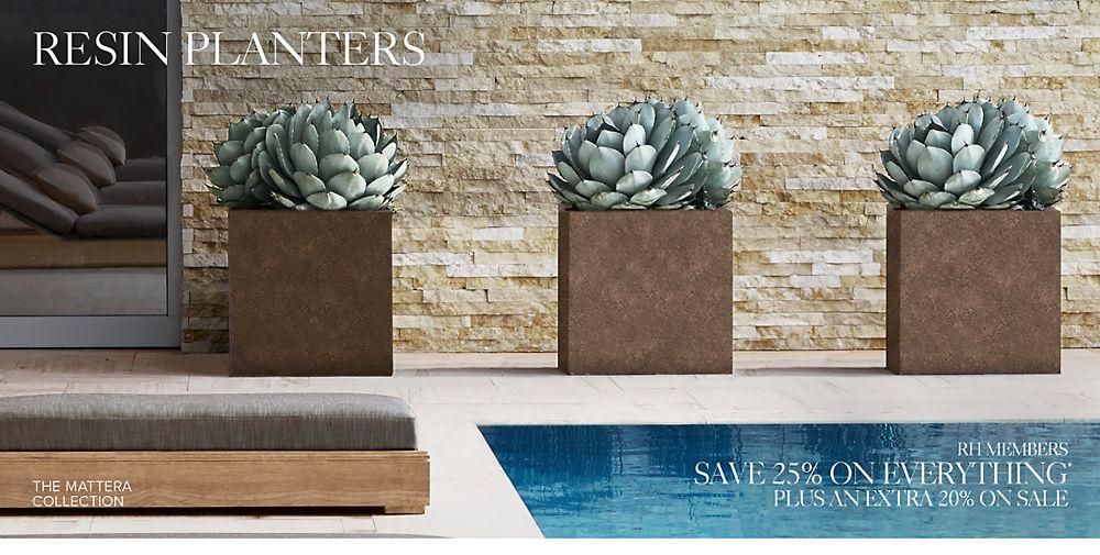 shop resin planters