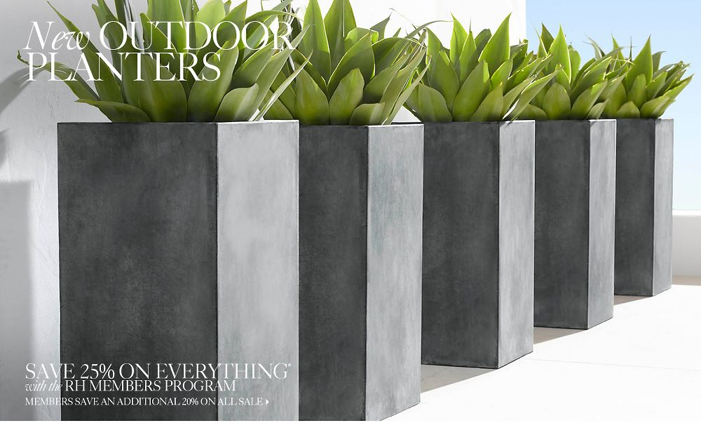 New Outdoor Planters
