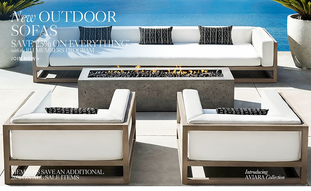 New Outdoor Sofas
