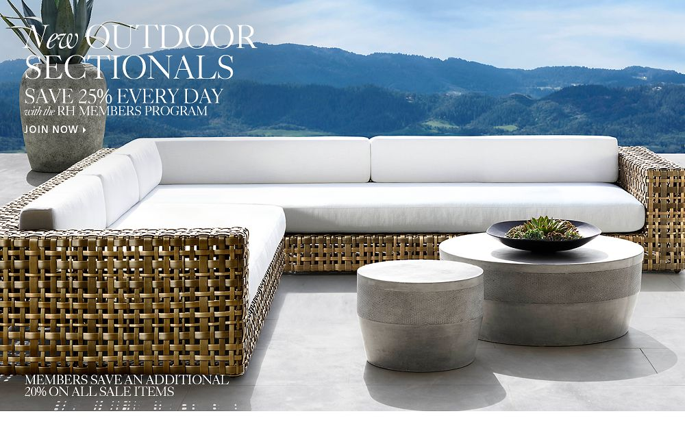 New Outdoor Sectionals