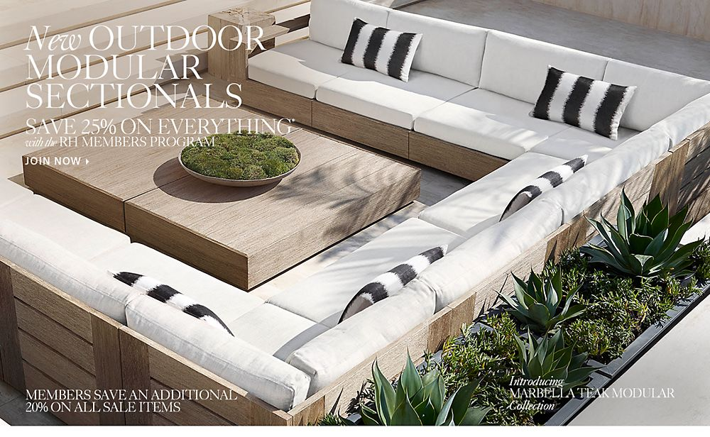 New Outdoor Modular Sectionals