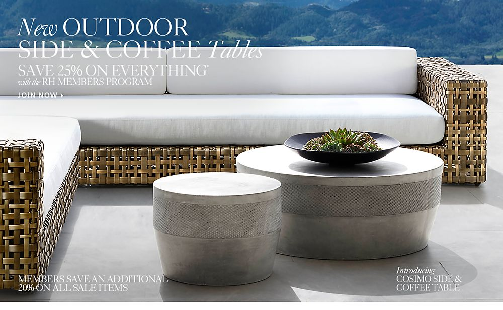 New Outdoor Side Tables