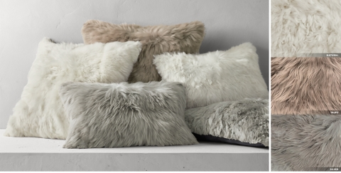 suri alpaca fur pillow collection