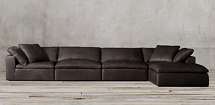 super popular 9ab7e a43ed Cloud Modular Leather Sectional | RH
