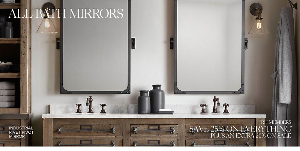 Restoration hardware bathroom mirrors home design for Restoration hardware round mirror