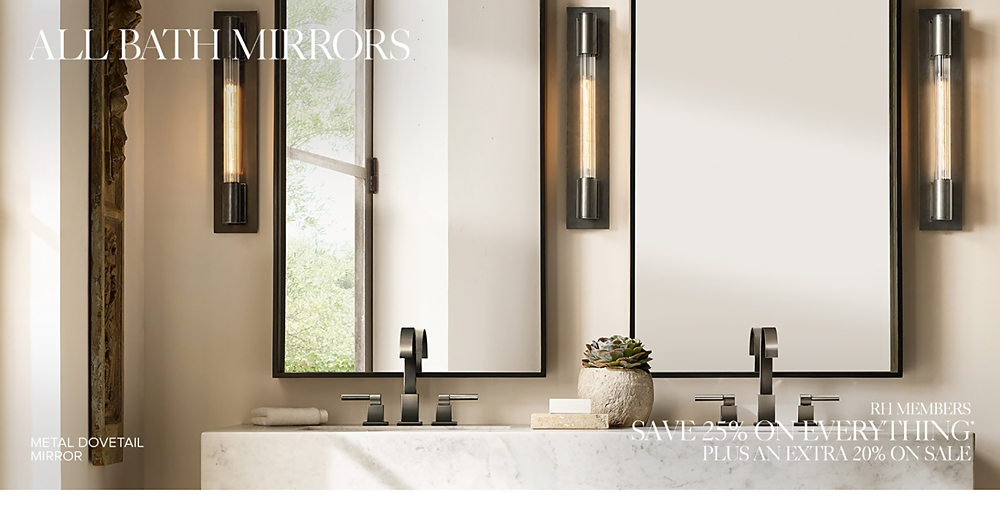 big bathroom mirror all bath mirrors rh 12077