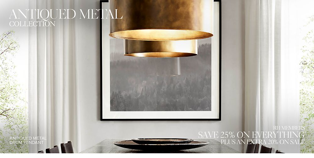 Introducing the Antiqued Metal Lighting Collection