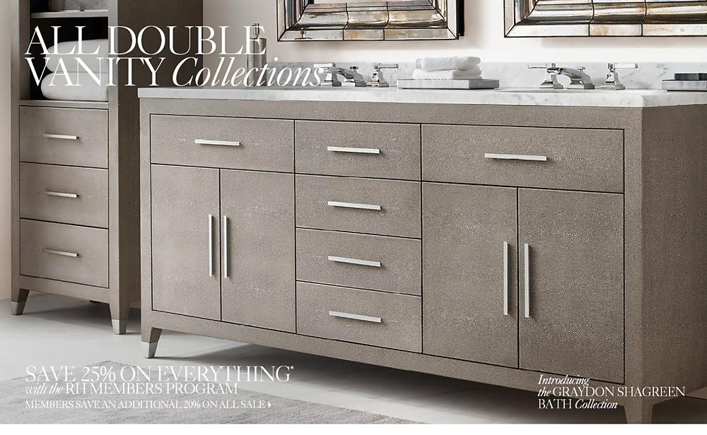 Restoration Hardware Bathroom Vanity All Vanities U0026 Sinks Rh