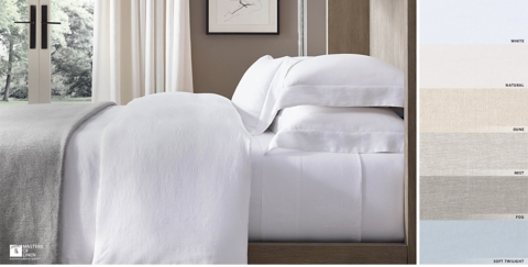 White bed sheets Luxury Italian Ultrafine Lightweight Linen Bedding Collection Free Shipping Shown In White Restoration Hardware Bedding Collections Rh