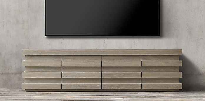 Luxury Frosted Glass Media Cabinet