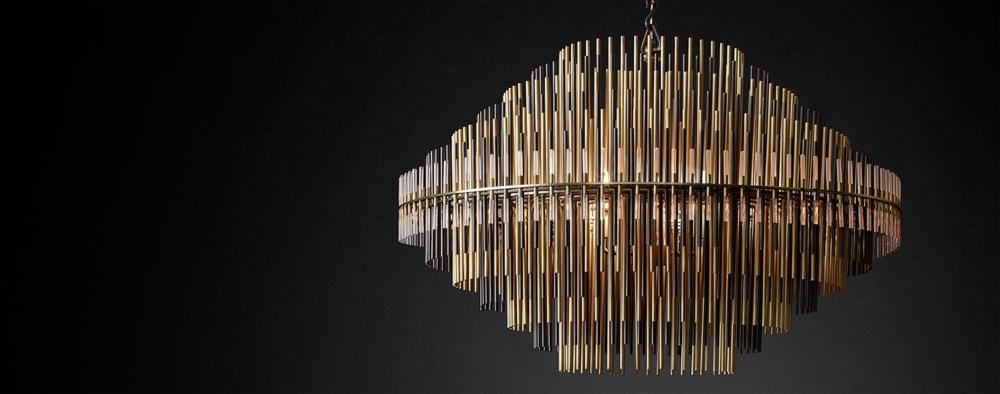 Emile round chandelier collection rh modern