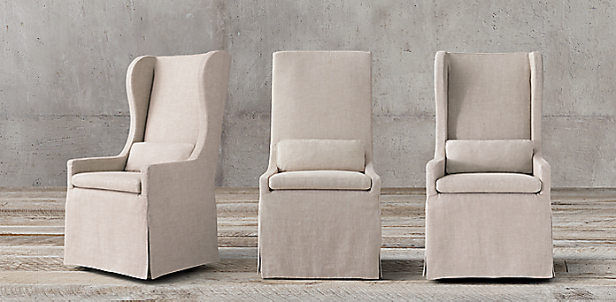 skirted wingback chair fabric chair collections rh