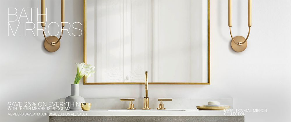 All Bath Mirrors Rh Modern