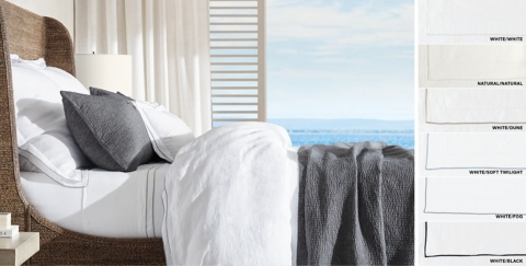 Italian Ultra Fine Tipped Linen Bedding Collection Free Shipping