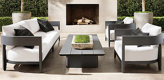 Balmain Aluminum Furniture Collection Slate Rh