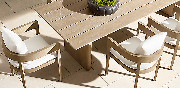 Balmain Teak Dining Collection Weathered Grey Teak Rh