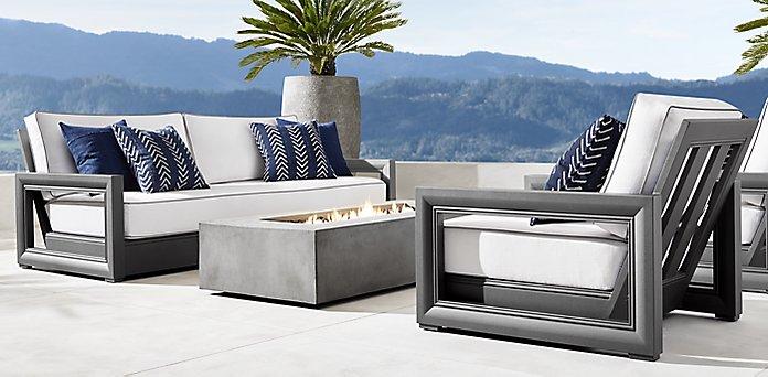 Costa Aluminum Furniture Collection Slate Rh