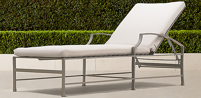 carmel collection in graphite - Chaise Metal