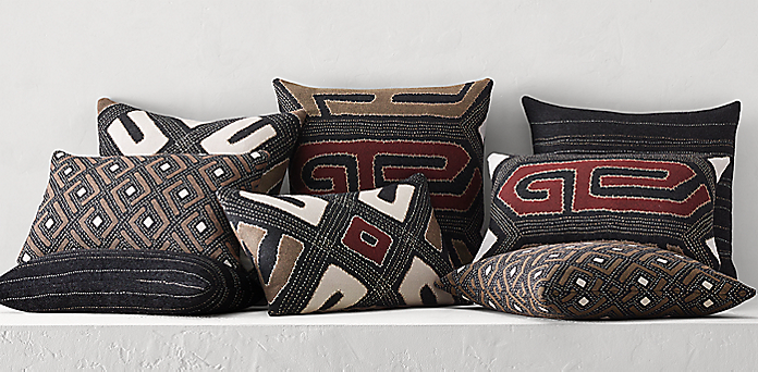 Kuba Cloth Pillow Collection Free Shipping