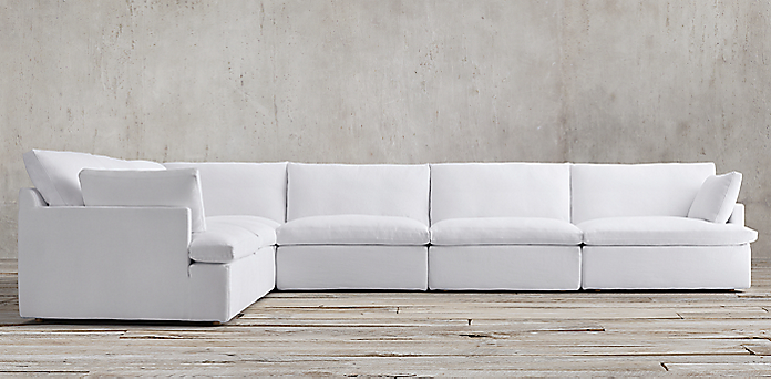 rh cloud sectional sofa cloud white sectional sofa cloud collection z 1963