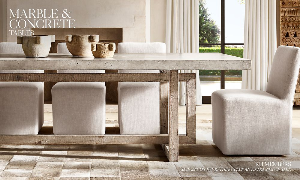 Shop Concrete & Marble Table Collections