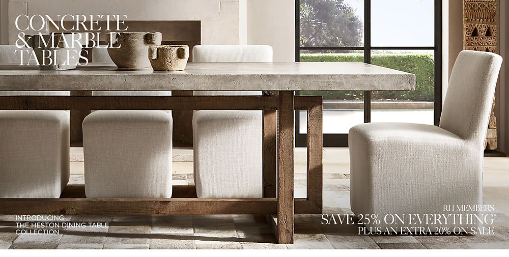 All Marble Concrete Tables RH - Restoration hardware marble dining table