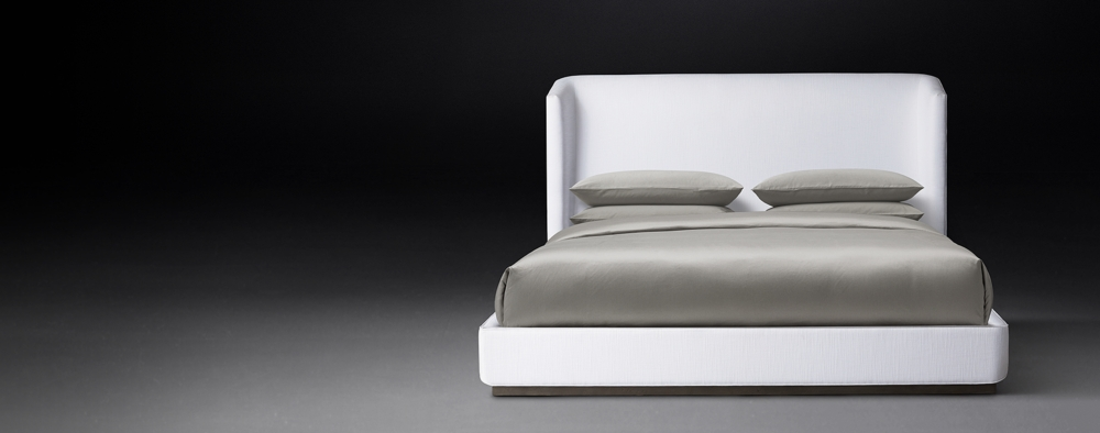 Upholstered & Custom Bed Collections | RH Modern