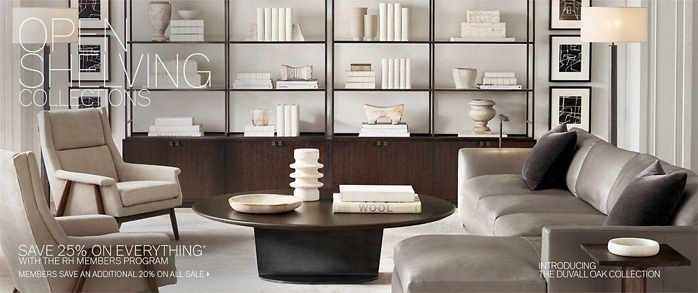 Open Shelving Collections Rh Modern