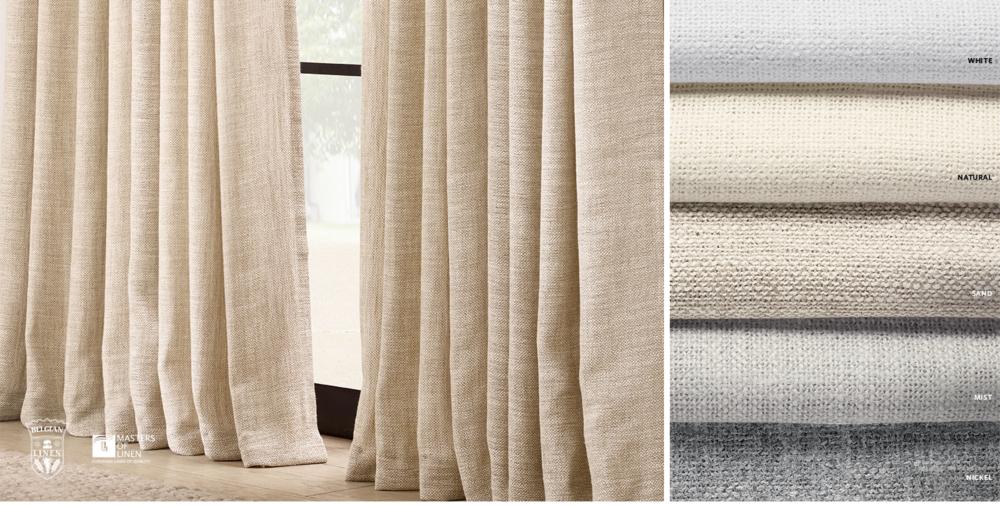Belgian Linen Textural Basketweave Free Shipping