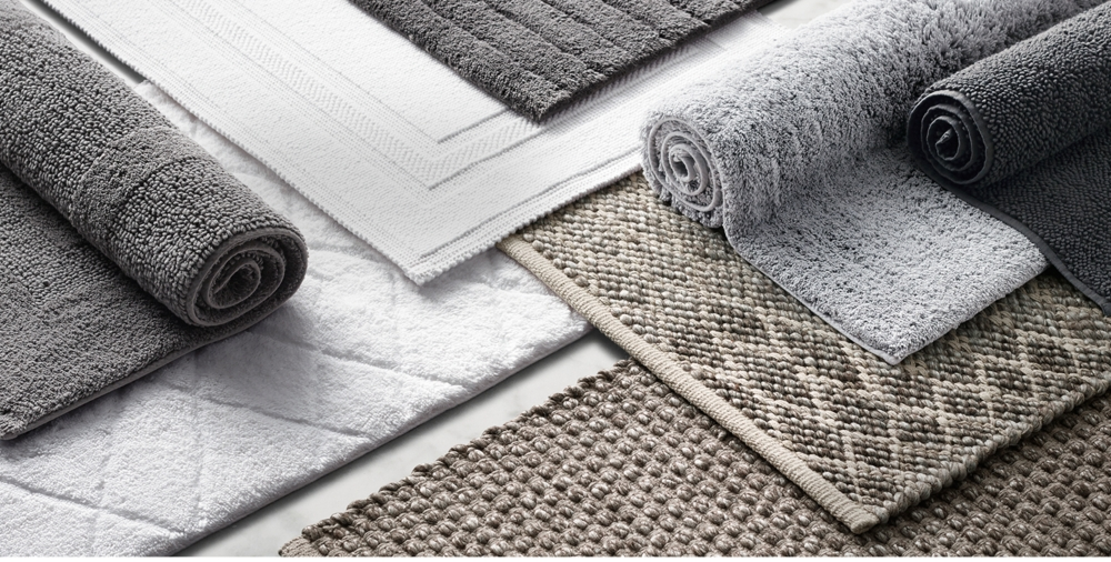Cotton Bath Rug Collection RH - Extra long bathroom runner rugs for bathroom decorating ideas