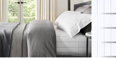 delightful Restorationhardware Bedding Part - 9: Italian Pinstripe Percale Bedding Collection Free Shipping
