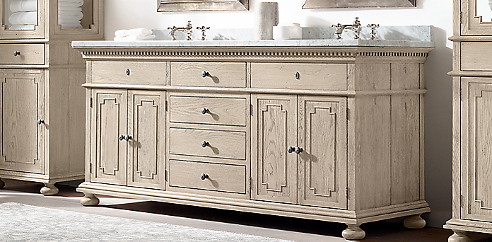 St James Vanity Collection Light Oak Rh