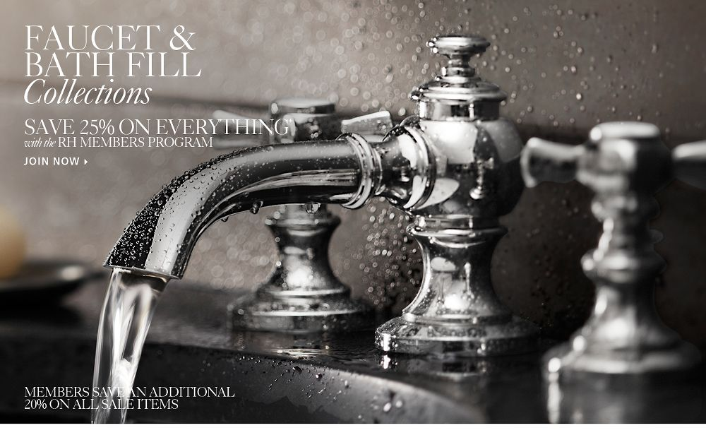 Bath Faucet and Tub Fill Collections. All Faucets  amp  Tub Fills   RH