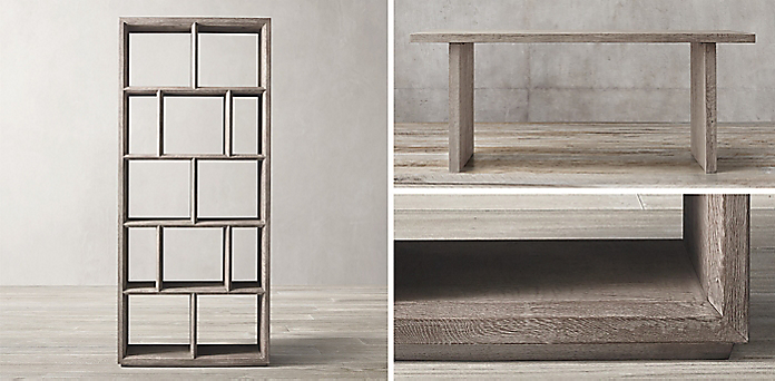 Introducing Russian Oak Beveled Edge Shelving Collection