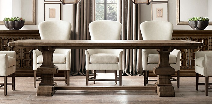 Rectangular dining table collections for Dining room tables at restoration hardware