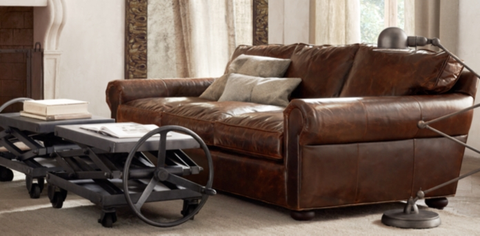 Nice Leather Sofa Alluring Lancaster Leather Sofa Reviews  Centerfieldbar Review