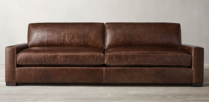 Maxwell Collection Rh, Maxwell Leather Sofa