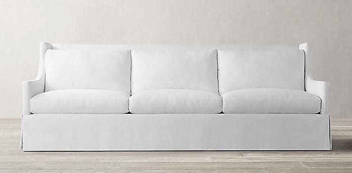 Sloan Wingback Skirted Sofa Rh