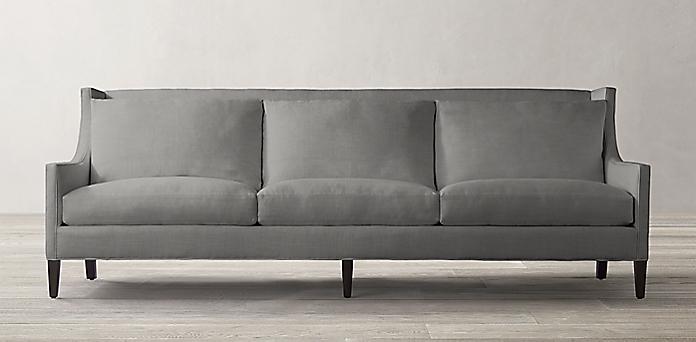 Sloan Wingback Upholstered Sofa Rh
