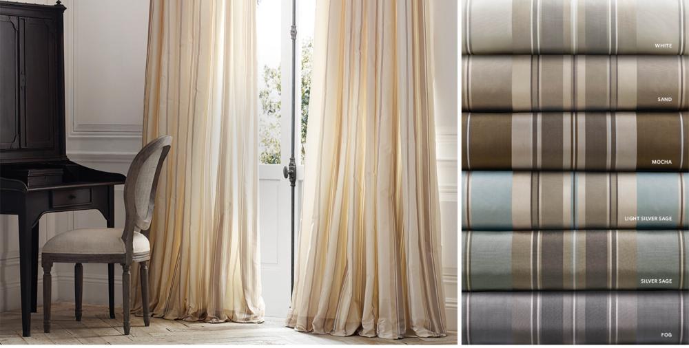 restoration hardware curtains striped silk curtain