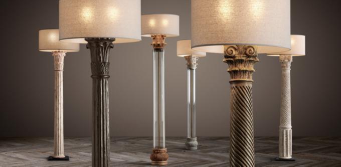 Are Antique floor lamp column are not