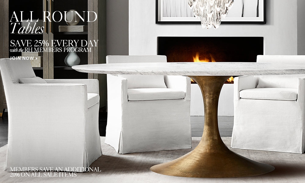 48 Inch Round Table Seats How Many all round tables | rh