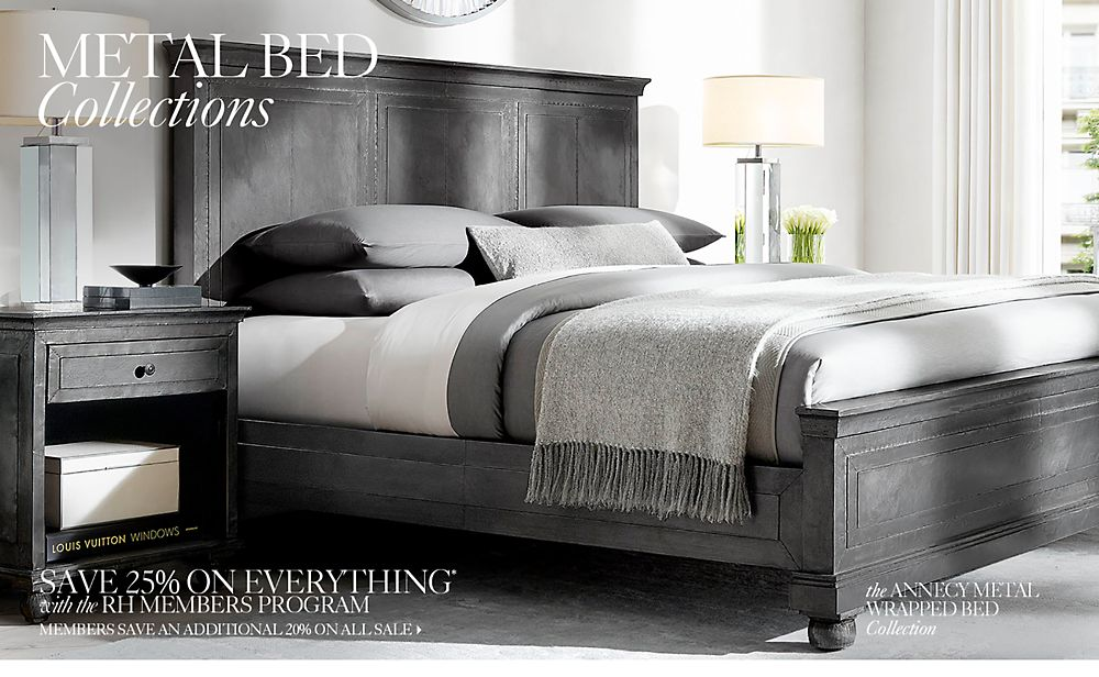 Metal Bed Collections. All Metal Beds   RH