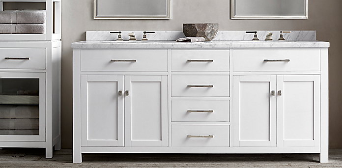 Hutton Vanity Bath Collection White Polished Nickel Rh