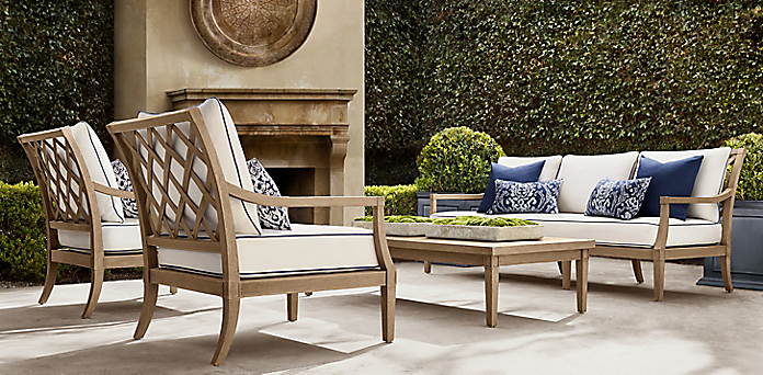 Loire Teak Furniture Collection, Restoration Hardware Inspired Outdoor Furniture