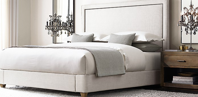 Wallace Fabric Bed Collection | RH
