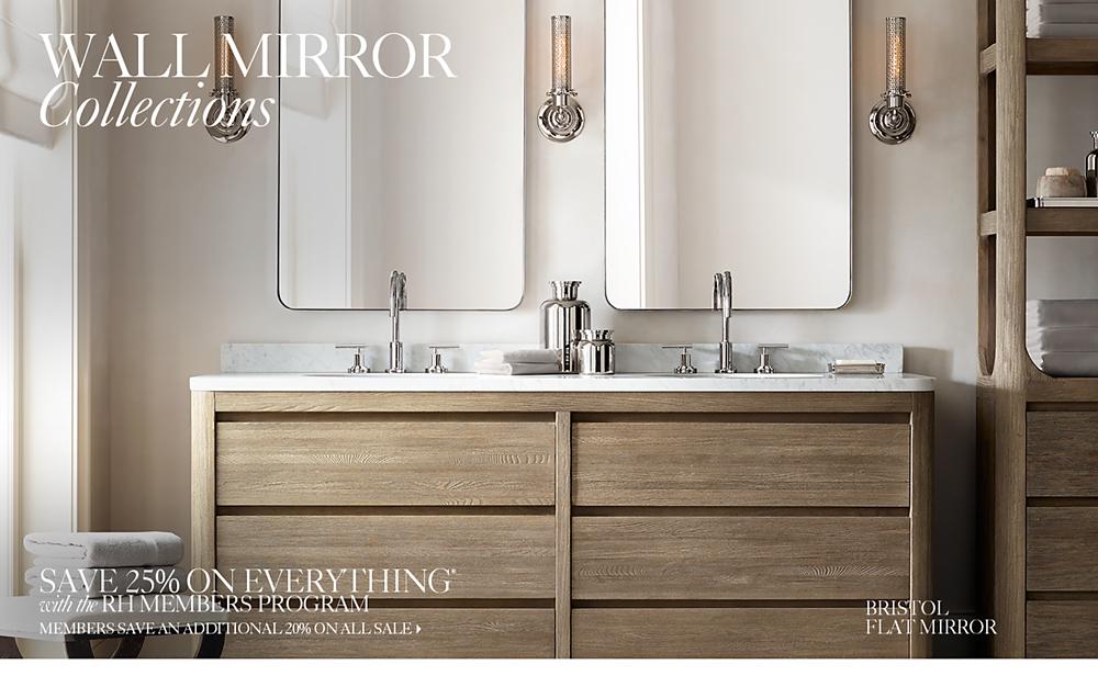 Bathroom Mirrors Under $50 wall mirrors | rh